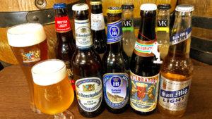 数種類のボトルビール